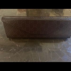 Gucci Sunglass Case with Cleaning Cloth